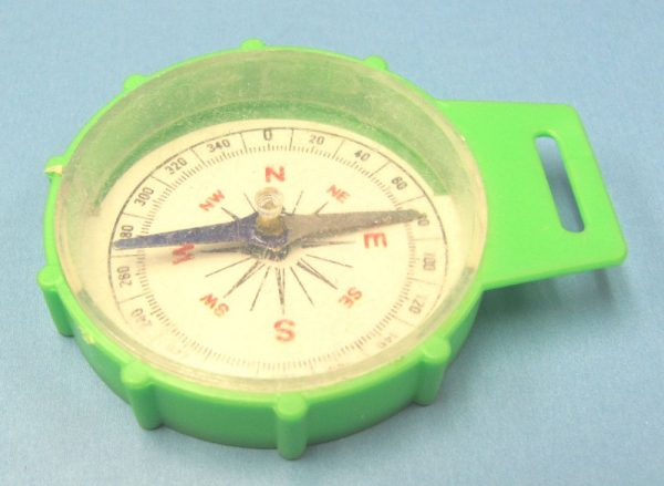 Plastic Toy Compass - Green
