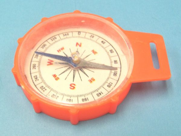 Plastic Toy Compass - Red