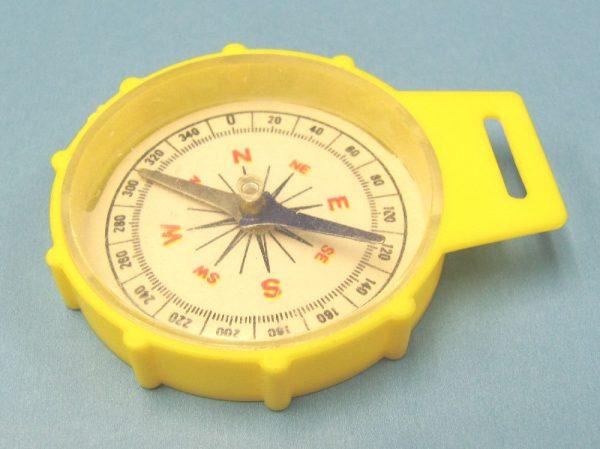 Plastic Toy Compass - Yellow