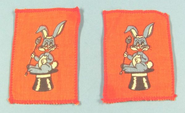 Sew-On Rabbit on Top Hat Patches