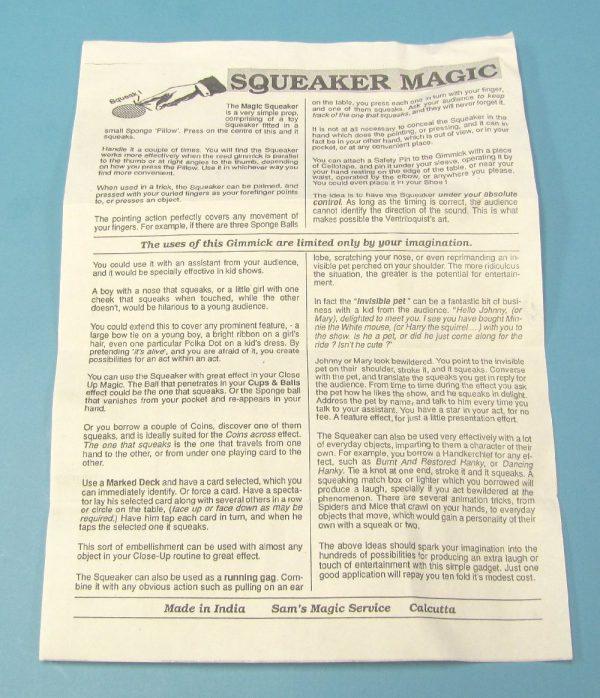 Sponge Pillow Squeaker Instructions