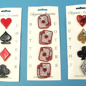 Card Pip Button Covers (Lot of 3 Different)