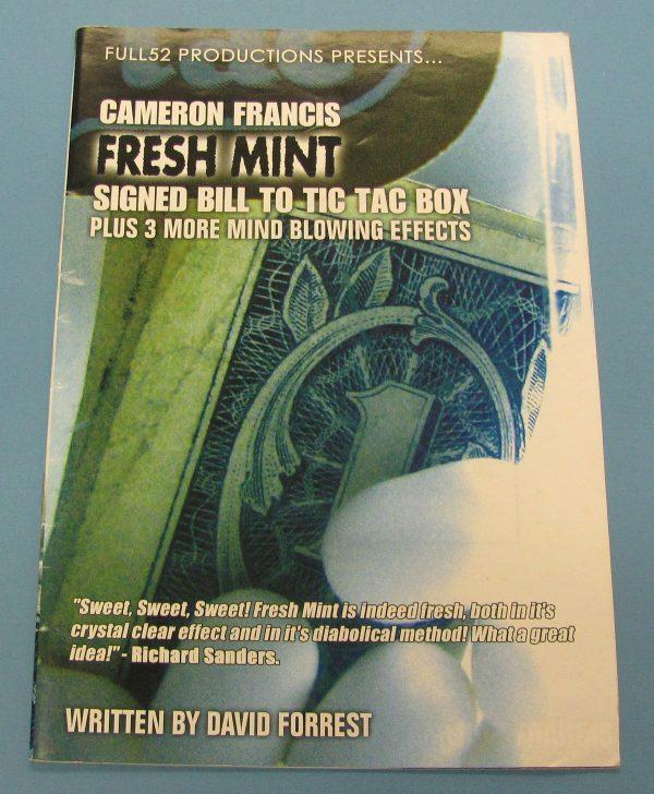 Fresh Mint Signed Bill to Tic Tac Box