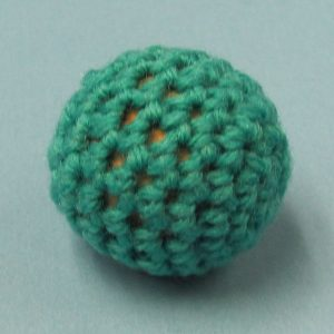 Light Blue Handknit Ball 1 Inch (Canada)