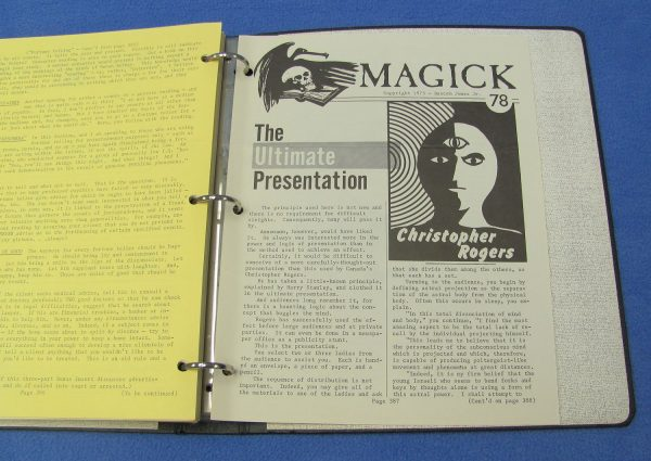 Magick Periodicals in 3-Ring Binder (Numbers 53 to 78)-3
