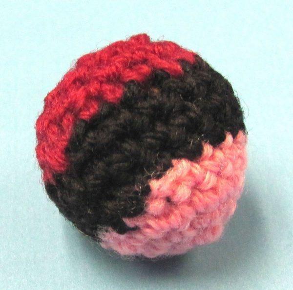 Multi-Colored Handknit Ball 1 Inch (Canada)