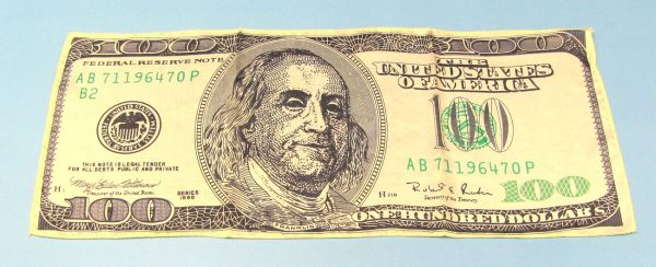 100 Dollar Bill Silk (18 Inch) Dark Colored