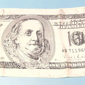 100 Dollar Bill Silk (18 Inch) Light Colored