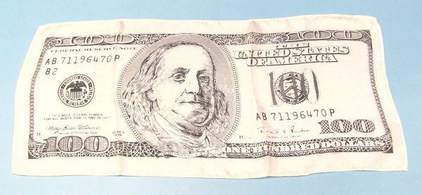 100 Dollar Bill Silk (18 Inch) Light Colored