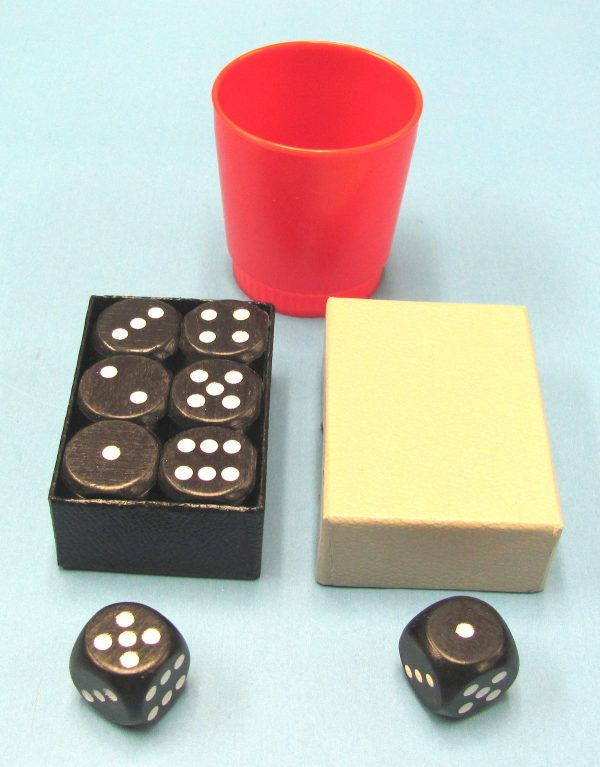 Problema Dice With Red Plastic Cup