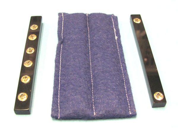 Two Black Paddle Sticks With Blue Felt Holder-2