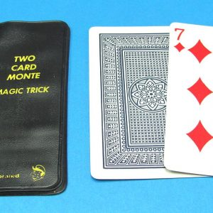 Vintage Royal Magic Two Card Monte With Black Holder