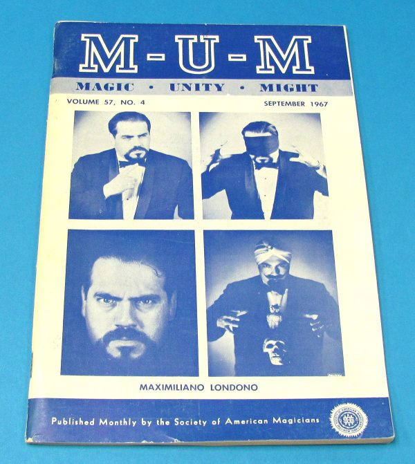 Max Londono on Cover of MUM September 1967
