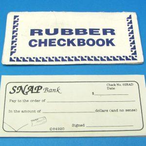 Rubber Checkbook Novelty