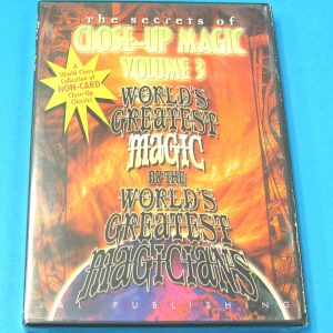 The Secrets of Close-Up Magic DVD Volume 3