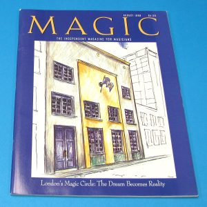 Stan Allen's Magic Magazine Aug 1998 London's Magic Circle