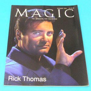 Stan Allen's Magic Magazine Dec 2001 Rick Thomas