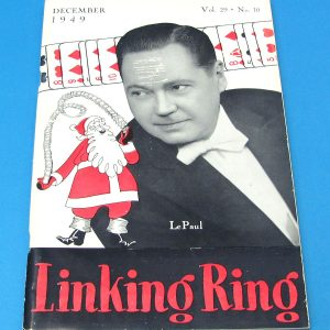 Linking Ring Magazine Dec 1949 Paul LePaul