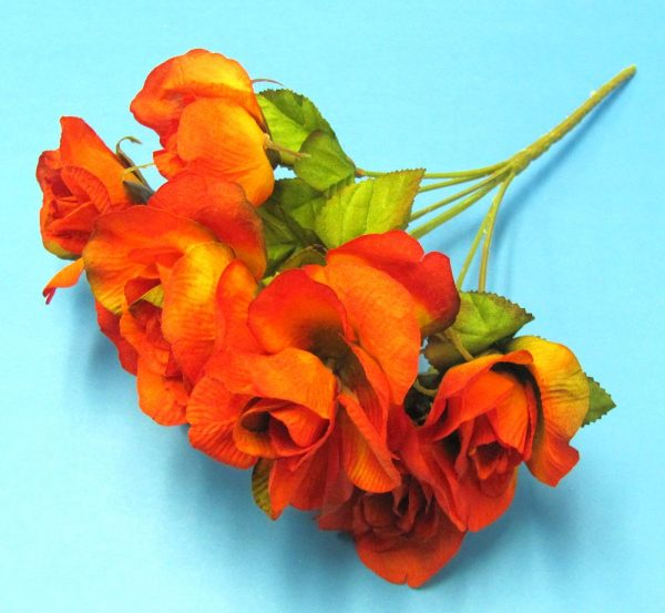 Artifical Plastic Red Roses Bouquet-2