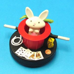 Miniature Rabbit in Red Top Hat