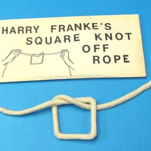 Harry Franks's Square Knot Off Rope