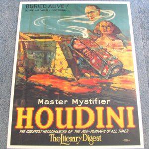 Houdini Poster - Buried Alive