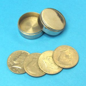 Chrome Okito Box With Coins