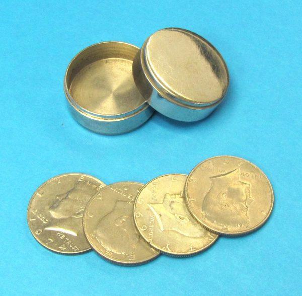 Chrome Okito Box With Coins