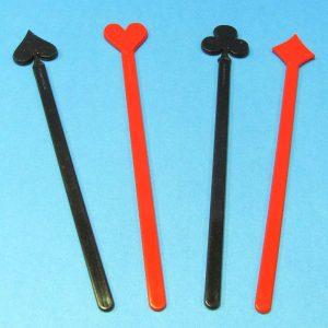 Card Pips Swizzel Sticks Set