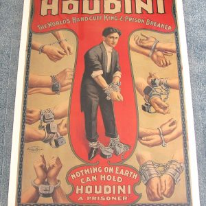 Houdini Handcuff King and Prison Breaker Poster