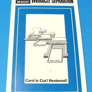 Miracle Separation Instruction Card