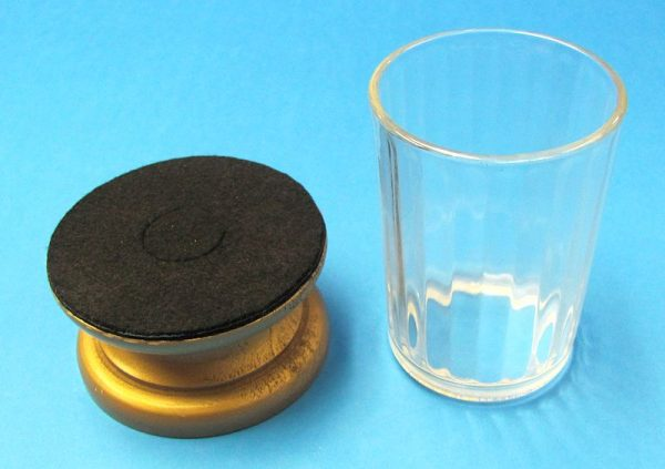 Wooden Stand With Bottomless Glass-2