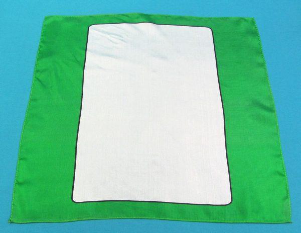 Green Blank Card Silk