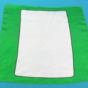 Green Blank Card Silk (A Few Black Spots)