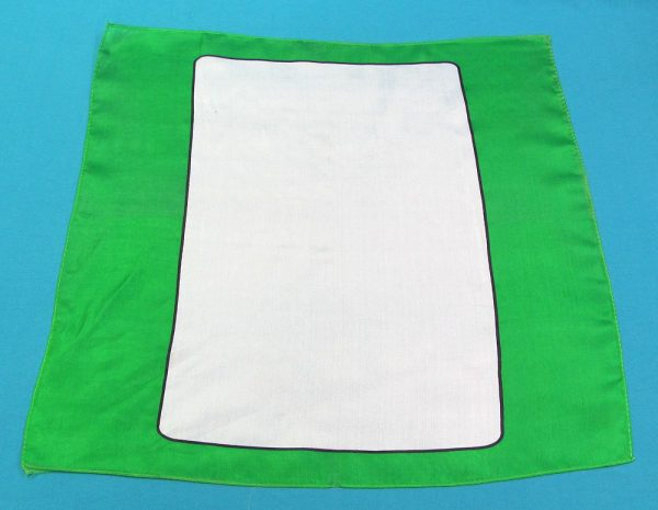 Green Blank Card Silk (A Few Black Spots)