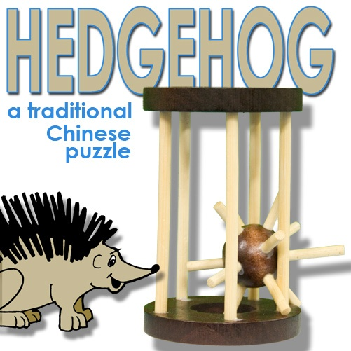 Hedgehog in a Cage Puzzle (Wood)