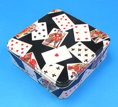 Playing Cards Empty Tin Box