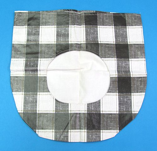 Unknown Checkerboard Design Vinyl Bag With Hole in Center