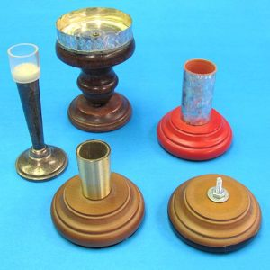 Lot of Five Candle Holders