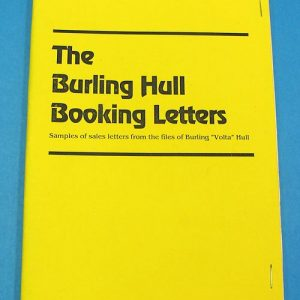 The Burling Hull Booking Letters